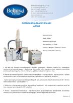 ROZDRABNIARKA DO PIANKI AR300 katalog