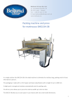 Packing machine and press for mattresses SM215H-3B catalogue